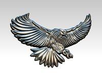 3D model eagle pendant