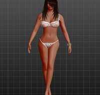 3D rigged nude girl model
