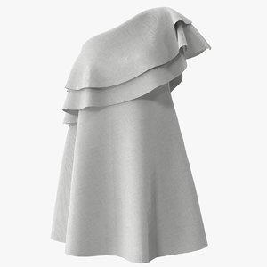 one-shoulder dress 3D model