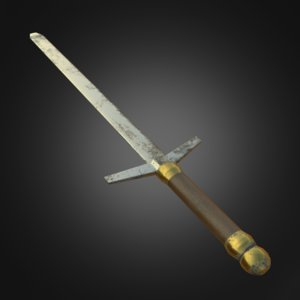 3D sword pbr model