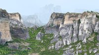 3D model mountains scan nature