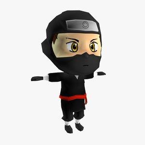ninja chibi model
