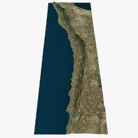 kyrenia mountains cyprus 3D model