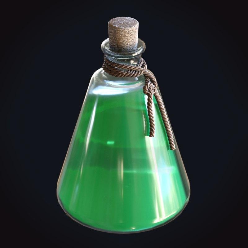 green potion rope stamina 3D model