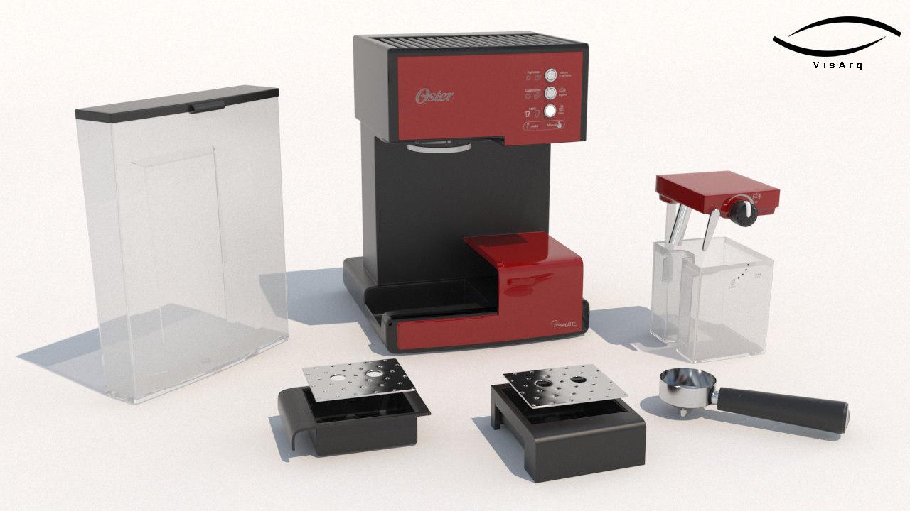 3D modelo oster primalatte coffee maker model
