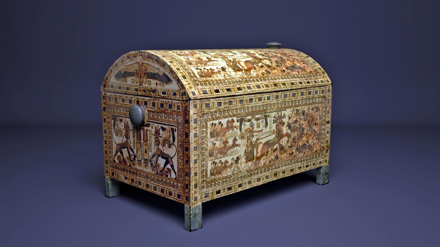 3D egyptian king tutankhamun chest