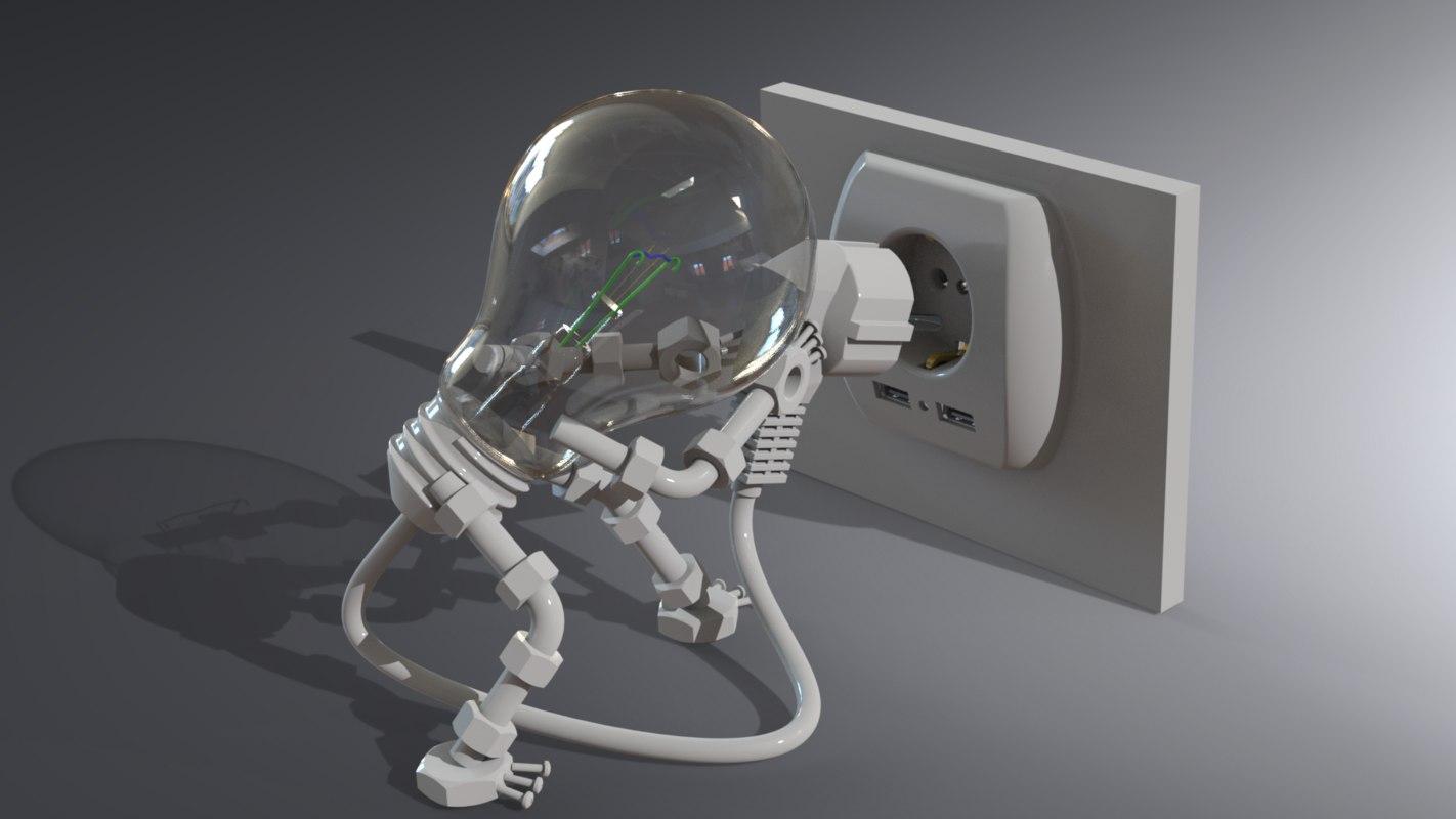 bulb man 3D model