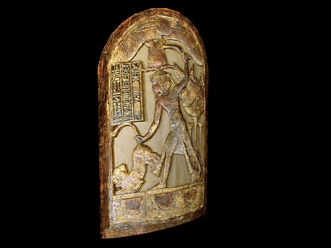 3D king tutankhamun shield model