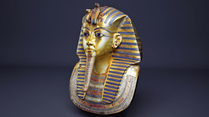 3D model king tutankhamun mask egyptian