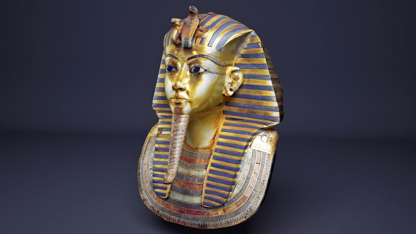 3D model king tutankhamun mask egyptian
