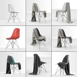 eames plastic dsr chair: 3D model