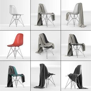 eames plastic dsr chair: 3D model