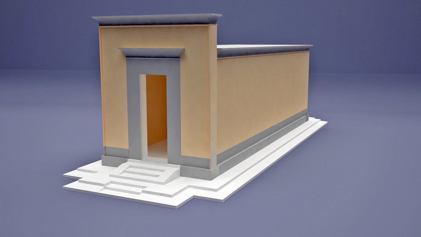 egypt temple hatshepsut chapel 3D