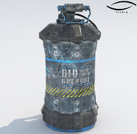 modelo sci-fi grenade 3D
