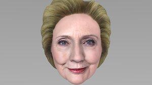3D model hillary clinton