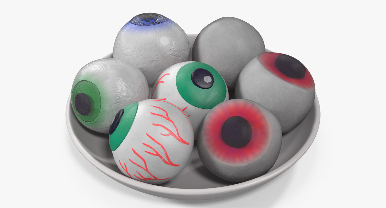 candy eyeballs 3D model