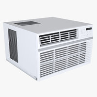3D photoreal window air conditioner