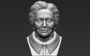 3D hillary clinton bust ready model