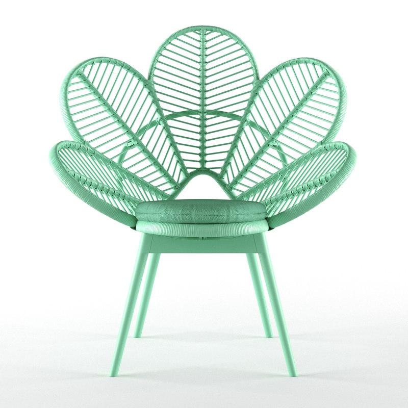 love chair mint 3D model