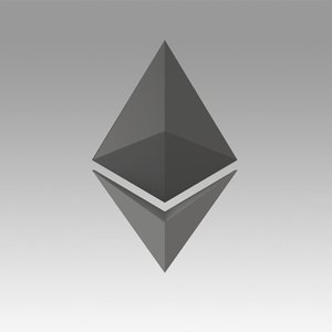 ethereum crypto currency 3D model