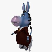 cartoon donkey 3D