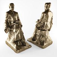 statue binh khiem 3D model