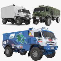 kamaz trucks 3D