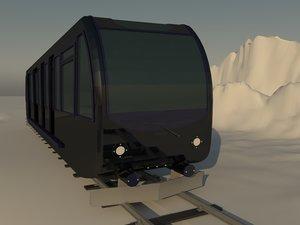 3D train travel model