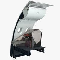 3D model business airplane seat singapore