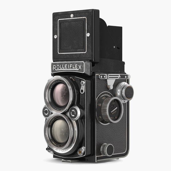 vintage tlr rolleiflex film camera 3D model