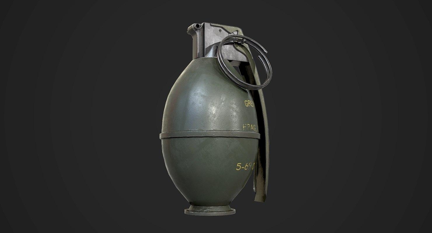 m26 grenade aaa games 3D model