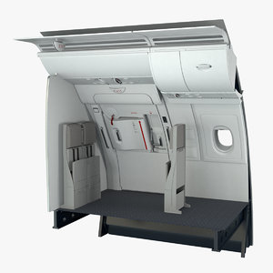 3D a380 business emergency exit