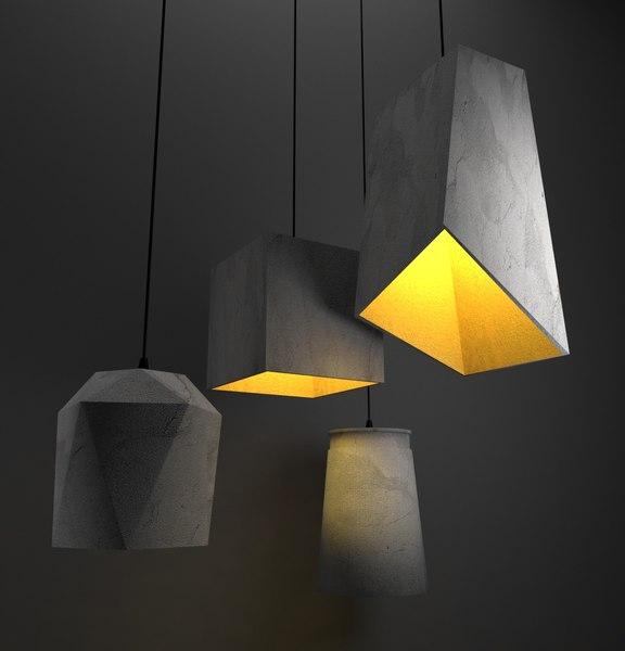 3D model light lamp decoration