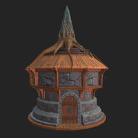 stylized house tree model