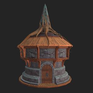 stylized house tree model