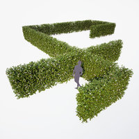 3D generic blooming hedge -