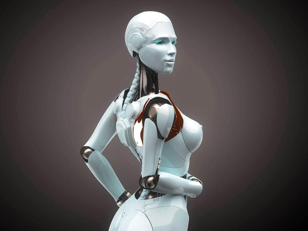 woman realistic 3D model
