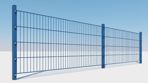 doppelstabmattenzaun double matt fence 3D model