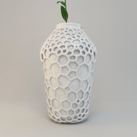 3D decorative vase model