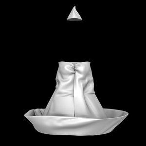 costume paper boat dress 3D model