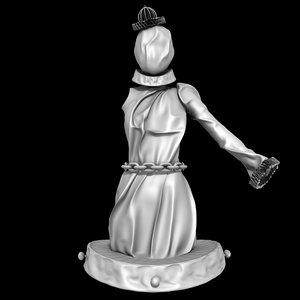 3D joker dress latex model