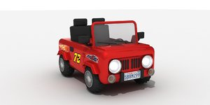 3D toy car 4x4