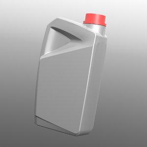 3D plastic bottle model