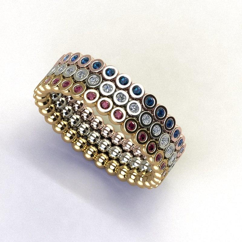 3D stackable bubble ring 3