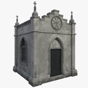 3D model old crypt