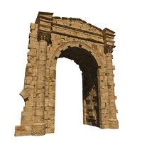 3D tyre triumphal arch model