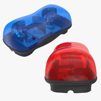3D mini ems police light