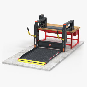 commercial wheelchair lift 3D