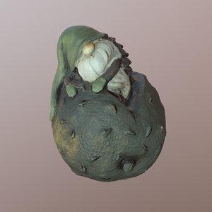 3D model flower gnome statue