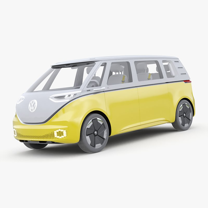3D volkswagen d buzz simple